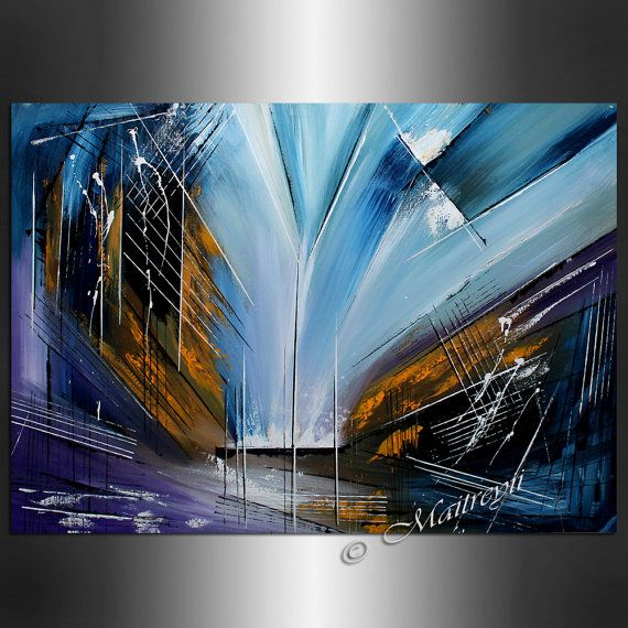 Large Abstract Home Decoration Office Lobby Art By Largeartwork Abstract Abstract Canvas