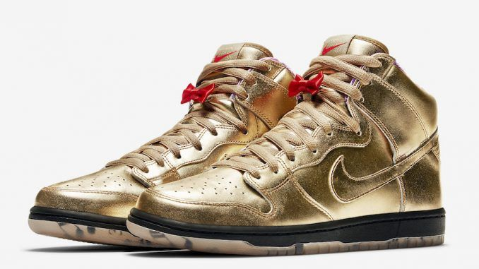 Humidity x Nike SB Dunk High Color  Metallic Gold Metallic Gold-Black Style  Code  AV4168-776 Release Date  September 22 b7cb65a95