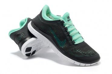 Nike Free 3.0 V5 Womens Black Green Running Shoes | Shoes