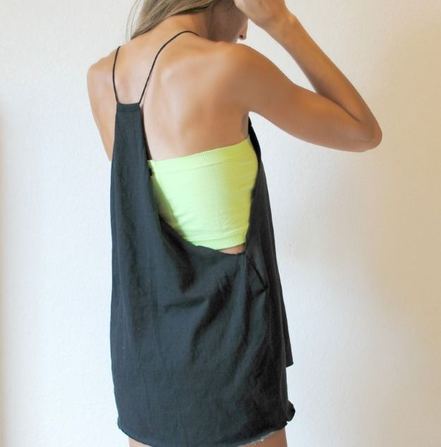 25ce16086 DIY Spaghetti Strap Tank Top | Tops | Diy clothes, Trash to couture ...