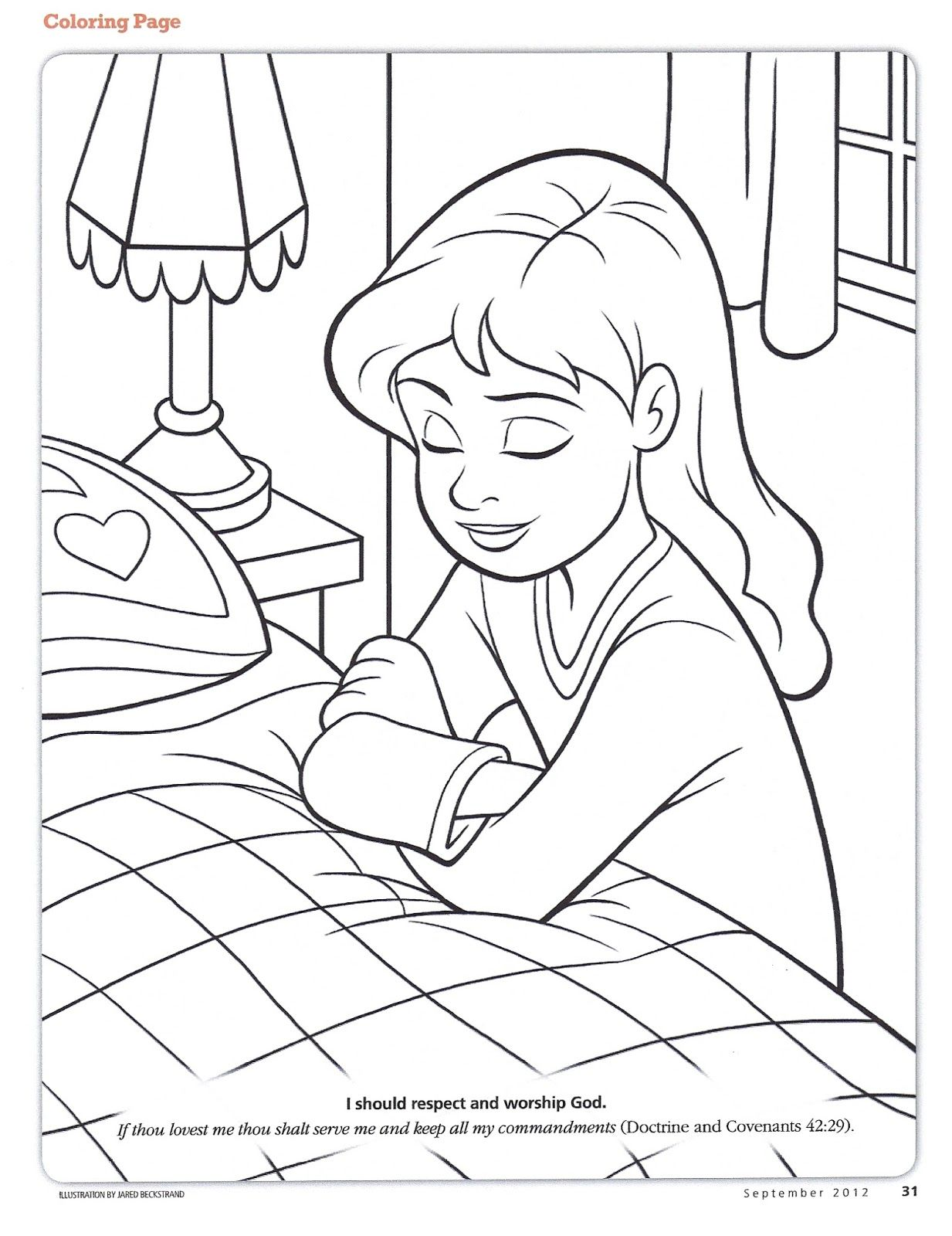 View source image Lds coloring pages, Children praying
