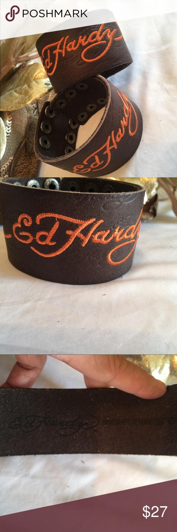 Leather Baseball Bracelet.Embroidered Number