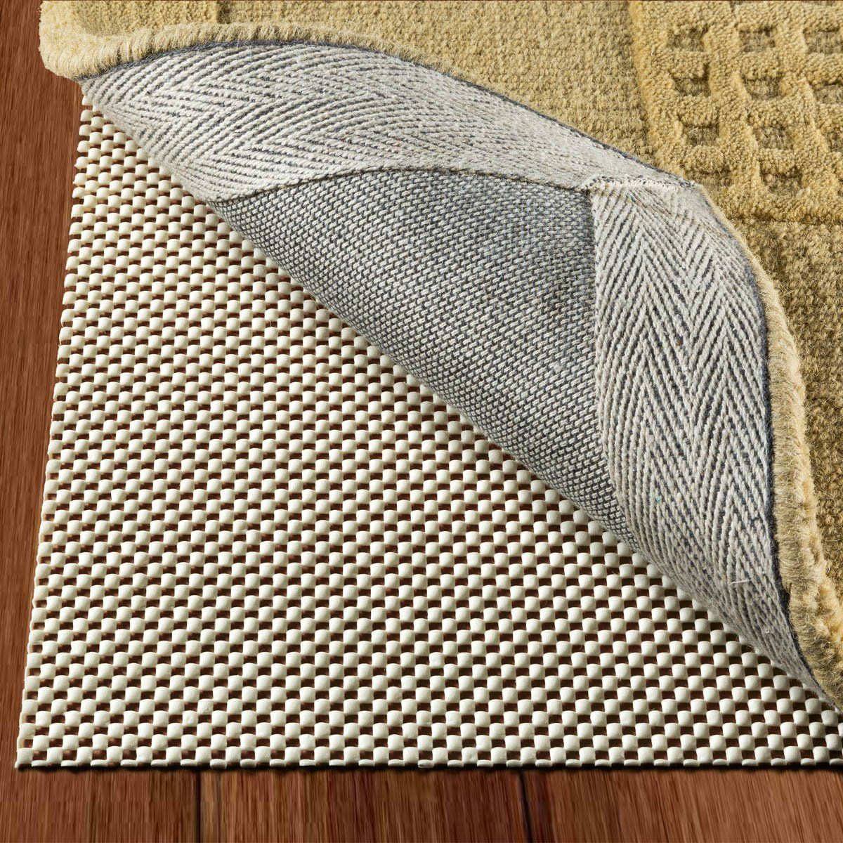 Non Slip Rug Pad Size 2 For Runner Rugs On Hardwood Floors Extra Strong Grip Thick Padding And