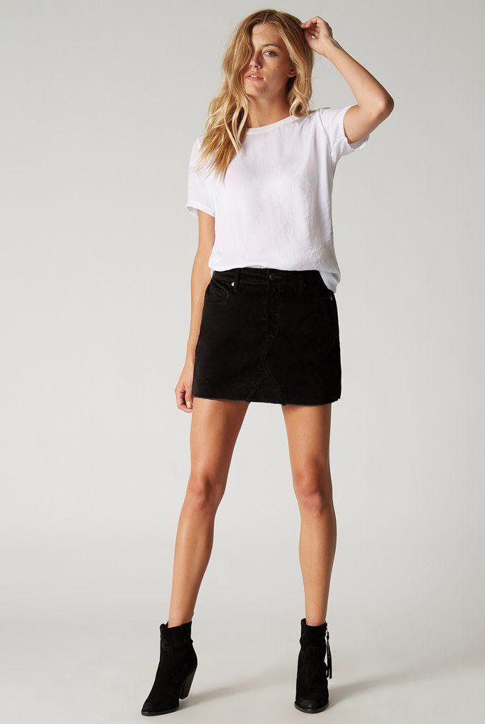 Reven Feather Mini Skirt