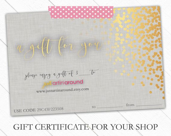 Gift Certificate Bundle - Gift Certificate Template - Gift - printable christmas certificates