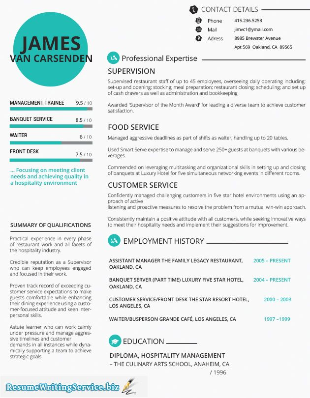 This image presents the Hospitality functional resume sample Do - hospitality resume template