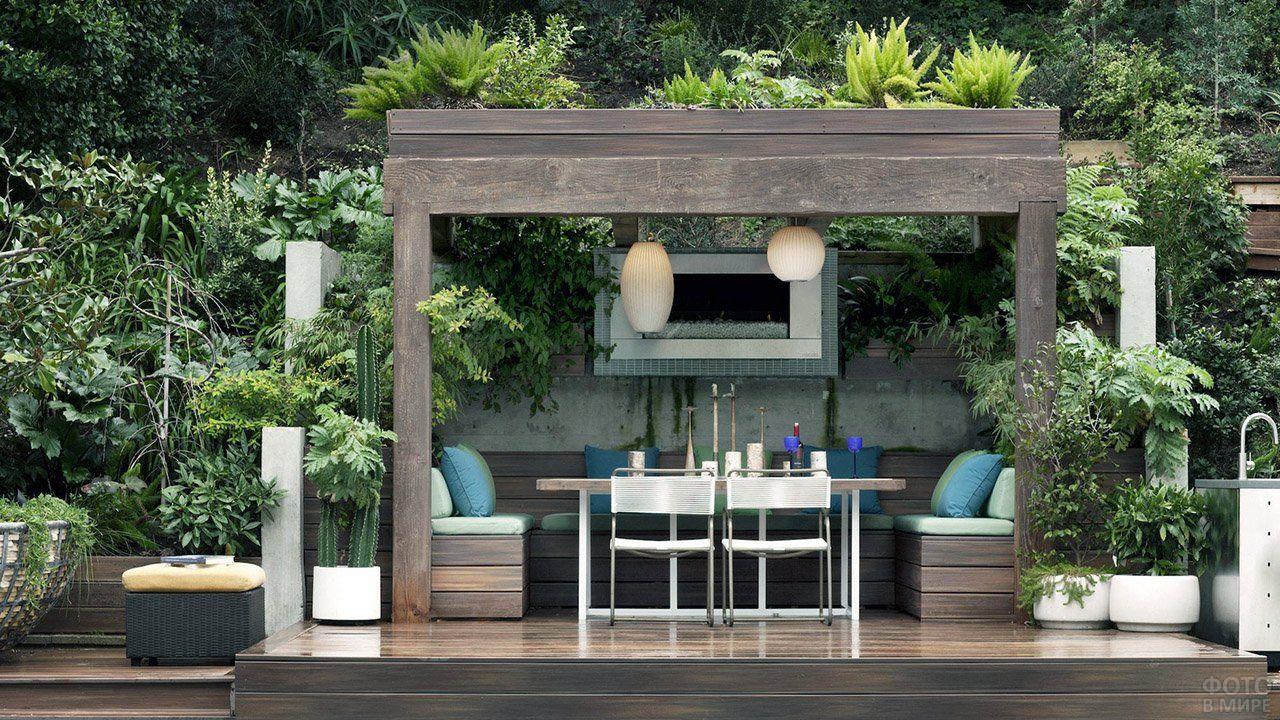 Оформление сада (47 фото) в 2020 г | Дизайн патио, Идеи ...
