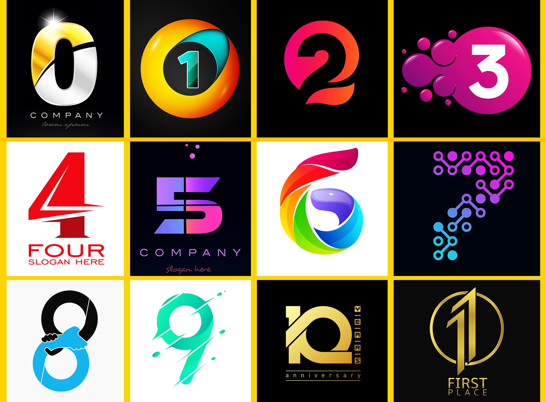 Professional Number Alphabet Or Letter Logo Letter Logo