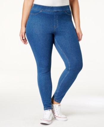 916ccb78d1426 Hue Plus Size Original Denim Leggings, Created for Macy's - White in ...