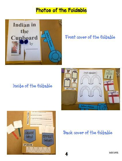 Indian In The Cupboard Foldable Indian In The Cupboard Book Study 6th Grade Reading