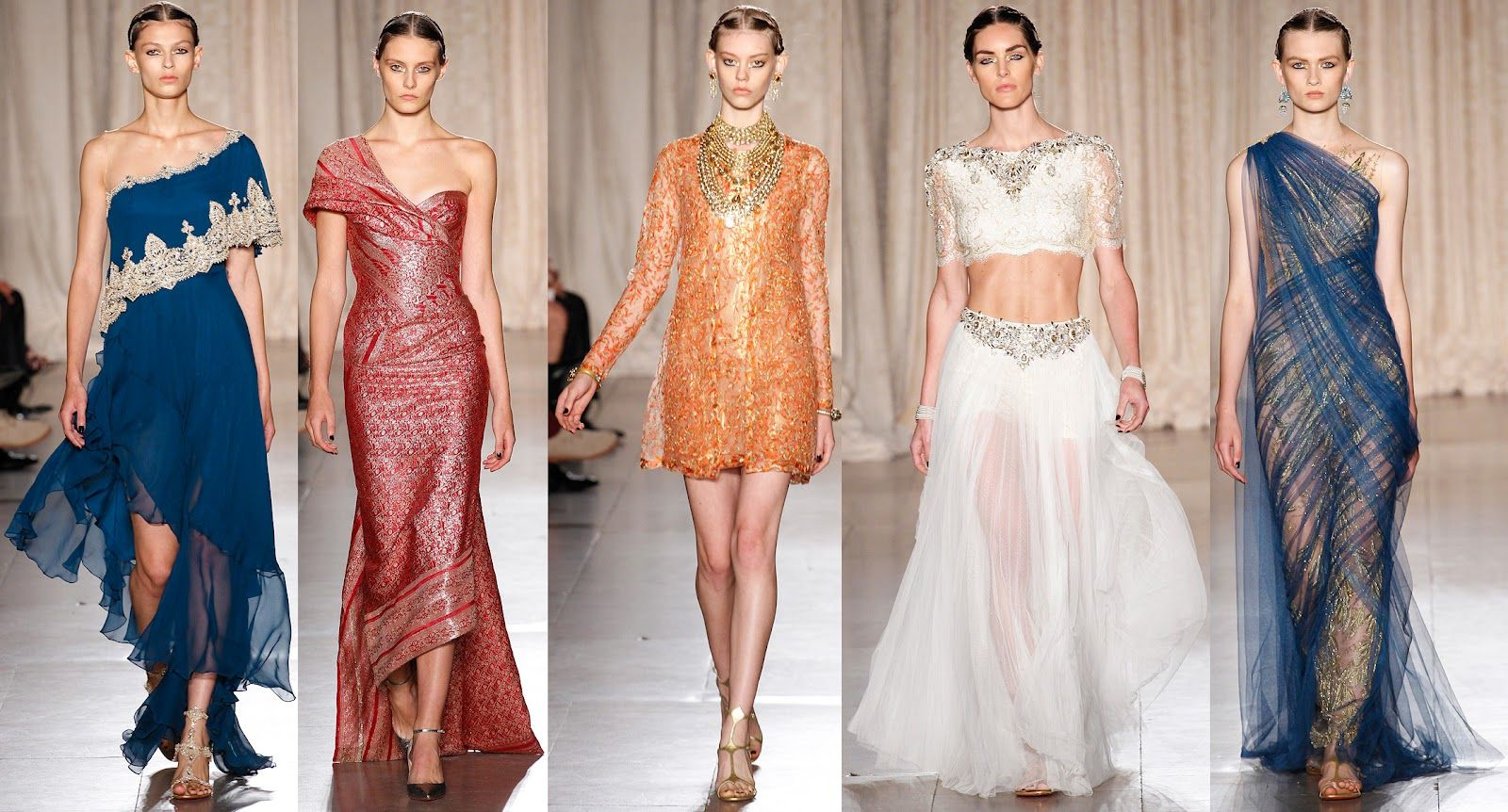 Indian inspired cocktail dresses