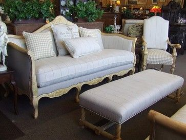 Fabulous Designer French Laundry Print Sofa by Southern eclectic sofas