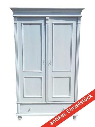 Alter Kleiderschrank Shabby Chic Landhausstil Weiß Antike