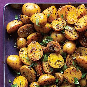 Indian potatoes with black & yellow mustard seeds