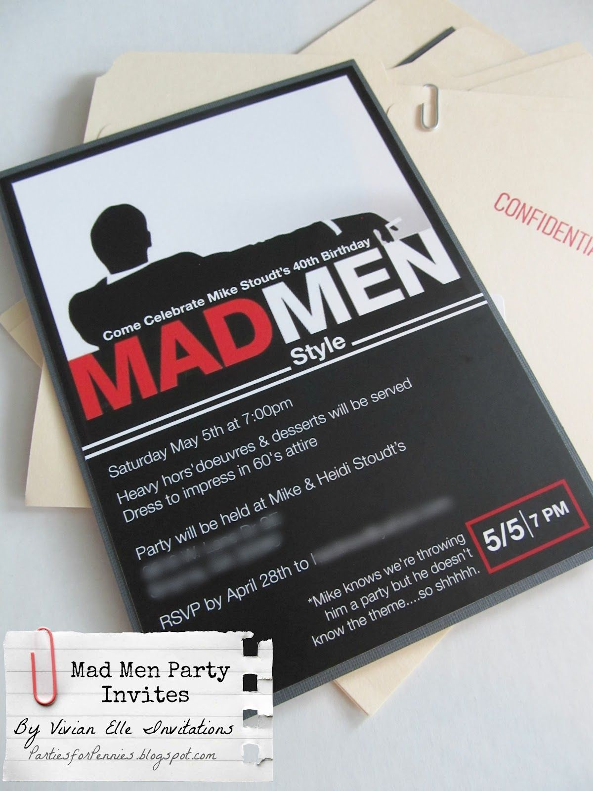 Mad Men Themed Party - part 1 - Parties for PenniesParties for ...