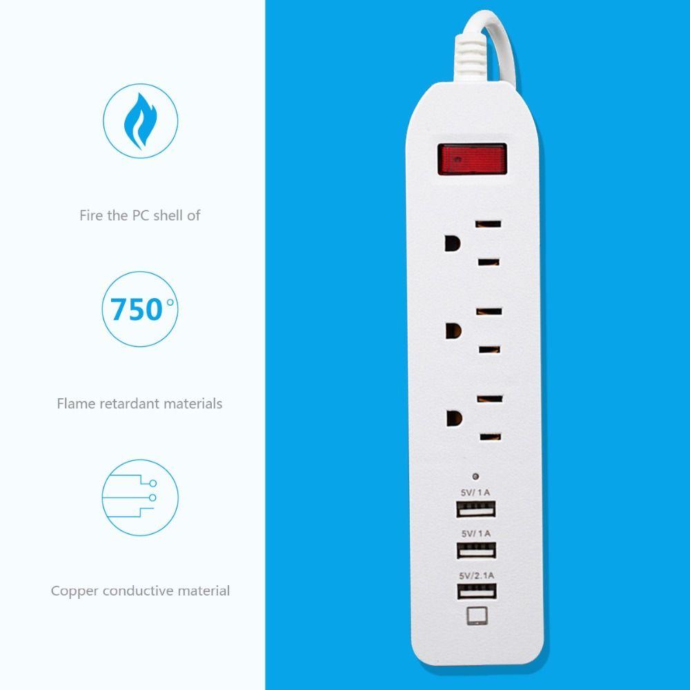 us standard electrical plugs usb socket 3 ac outlet 3 port ...