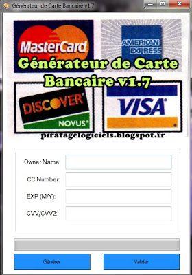 generateur de carte bancaire en ligne Générateur de Carte Bancaire GRATUIT en Ligne!   Projects to try