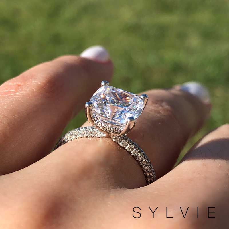 Two Hearts In Love Need No Words Just Like A Sparkling Diamond Sylv Aquamarine Engagement Ring Stylish Engagement Rings Aquamarine Engagement Ring Rose