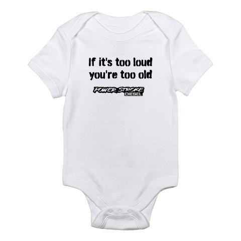 f994ca165 Powerstroke Diesel onesie | Anthony Edward Staub | Baby, Racing baby ...