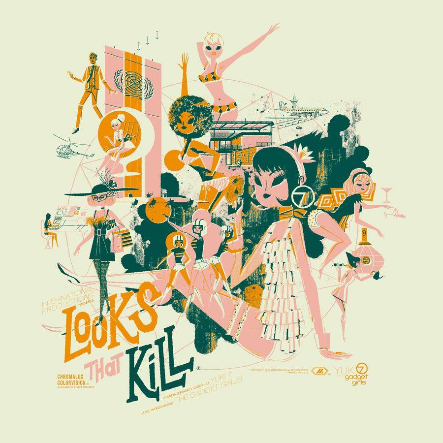 Looks That Kill screenprint by Kevin Dart