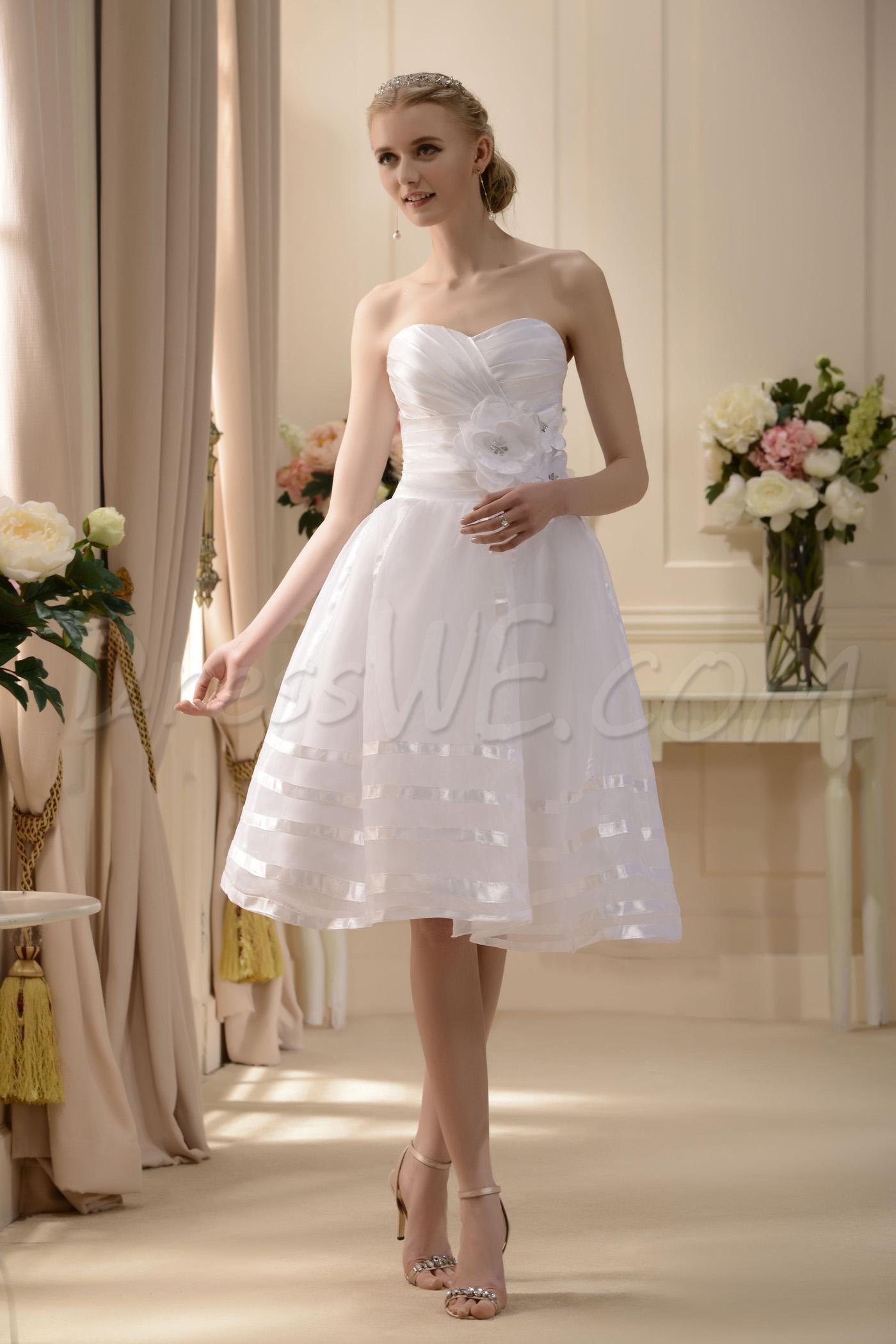Dresswe supplies elegant aline sweetheart tealength flowers