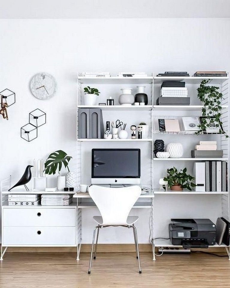Best 23 Awesome Minimalist Black White Home Office Decorating Ideas With Images Home Office 400 x 300