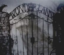 Inspiring picture alice, alice in wonderland, babalisme, black and white, dark, gate. Resolution: 500x332 px. Find the picture to your taste!