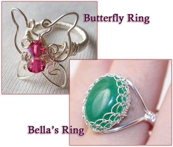 Wire Jewelry Tutorials | Wire Jewelry Tutorial Combo Deal 2 Ring Tutorials 20 Off by ingz