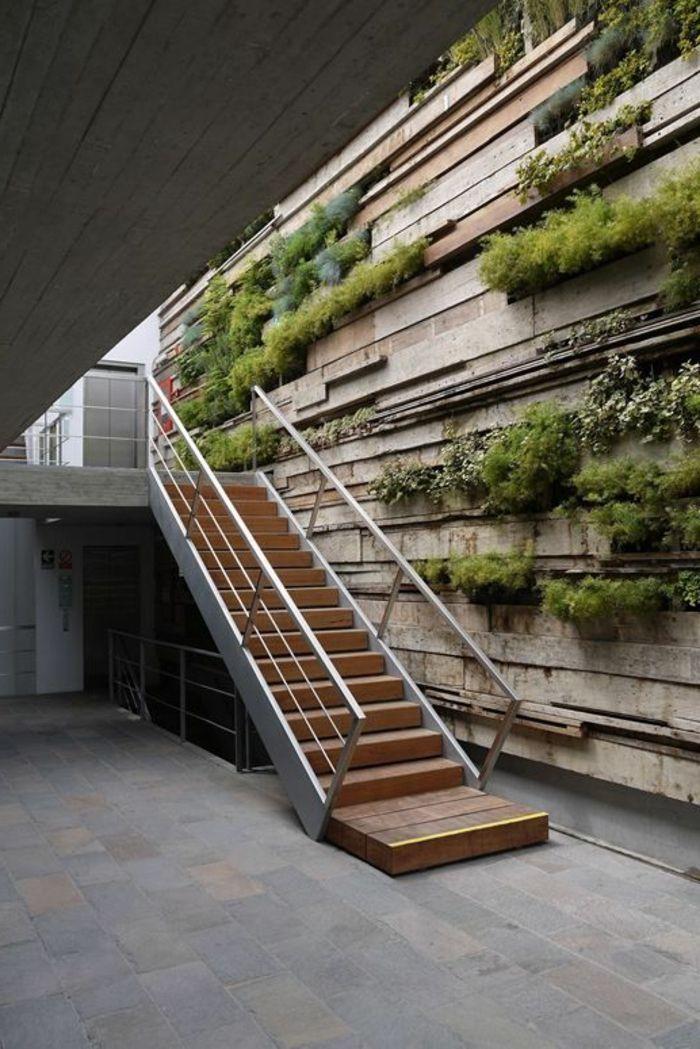 Décoration Japonais Mur En Pierre Verdure Murale Escalier D