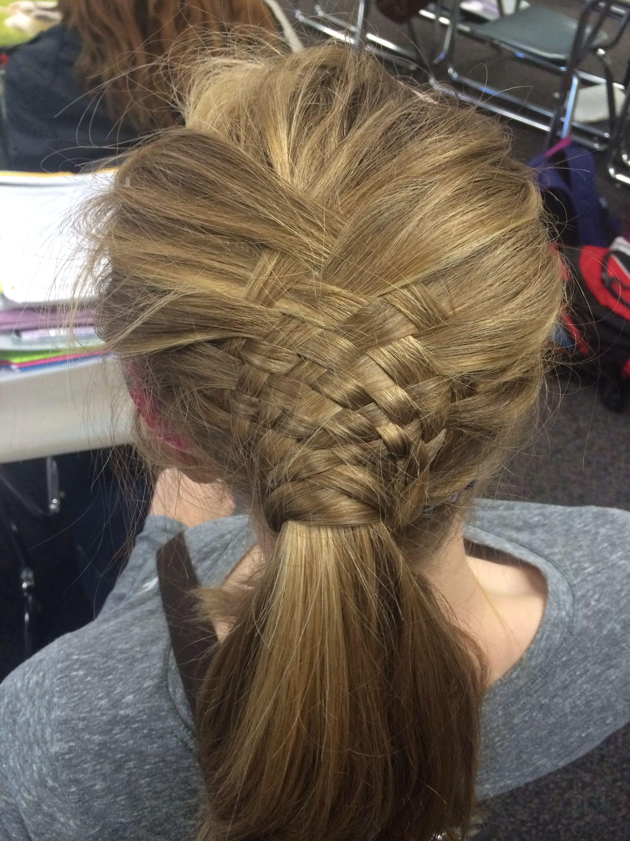 basket weave braid Hair Accessories Pinterest