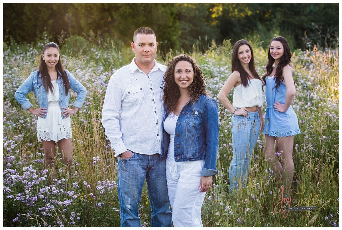Family Pose For With Teenagers