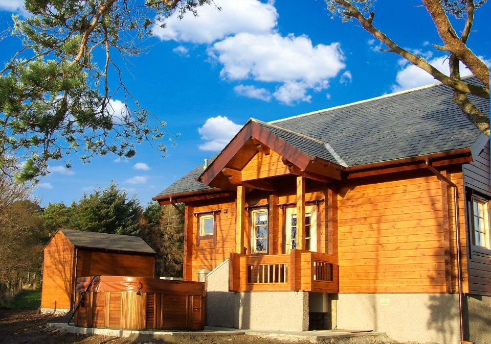 Red Squirrel Log Cabin, Mulben, Keith, Banffshire, Scotland. (Sleeps 1 - 6). Holiday. Travel. Log Cabin. Family. Self Catering. Accommodation. Staycation.