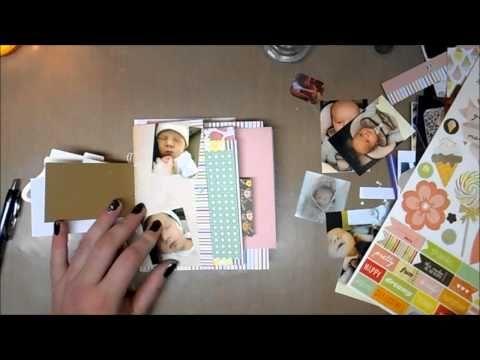 ▶ Scrap Mini Album (Dear Lizzy Neopolitan) Part II - YouTube