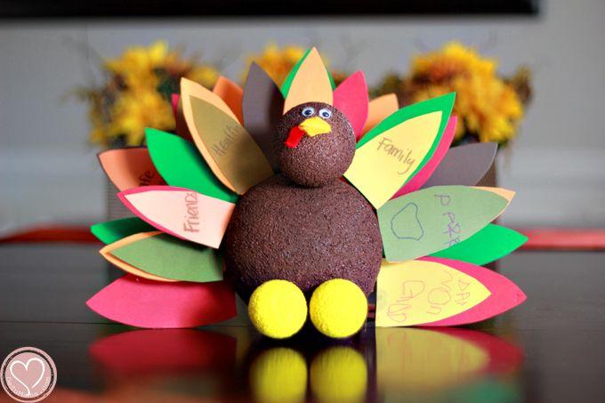 Gratitude Turkey Craft for Kids