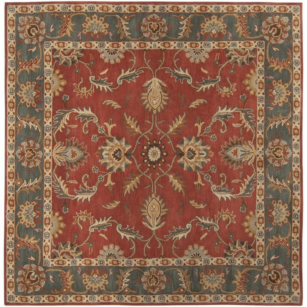 Artistic Weavers Chenni Burgundy Red 10 Ft X 10 Ft Square Indoor Area Rug Wool Area Rugs Square Area Rugs Area Rugs