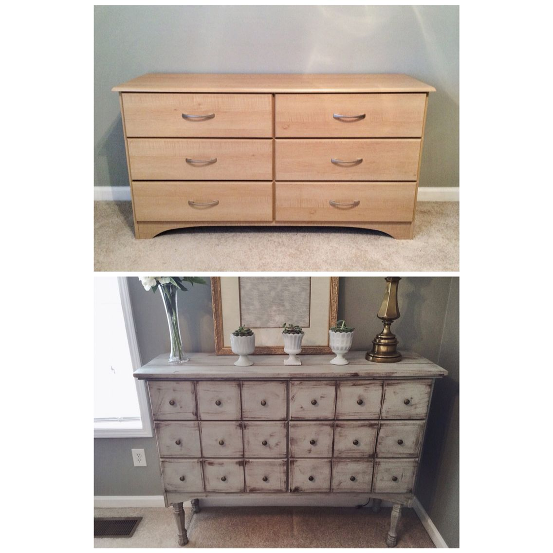 Project flip that dresser before top after bottom revived my