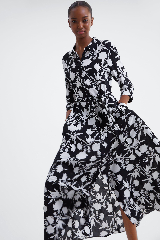 kleid mit blumenprint - alles anzeigen-kleider-damen | zara