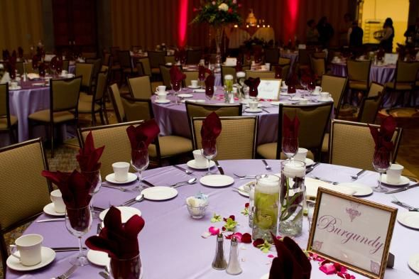 Red And Purple Reception Decor : Wedding Burgundy Cranberry Diy Flowers  Gold Lilac Pink Purple Reception