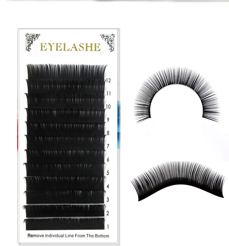 New Double Tip Flat Eyelashes Extension Kit Individual Eyelash