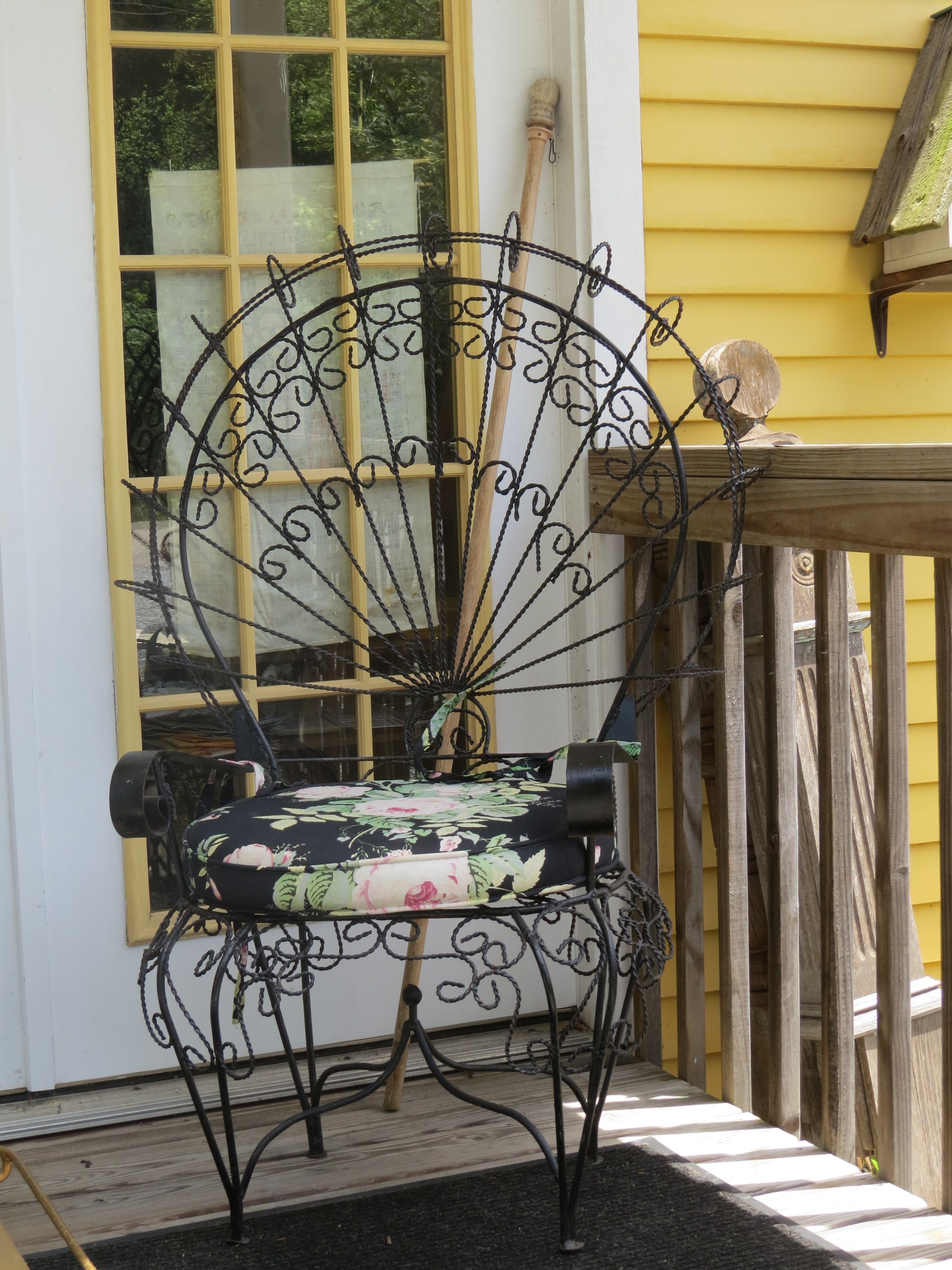 Victorian Metal Peacock Chair Wrought Iron Outdoor