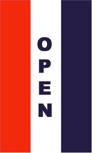 New 3x5 Vertical Open Sign Flag 3ft X 5ft Large Banner By Bcn 5 99 Open Signs Garden Flags Outdoor Gardens