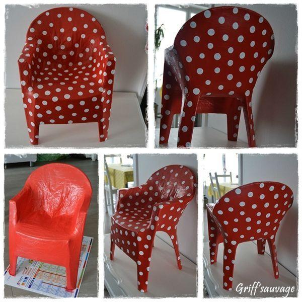 Chaise plastique papier m ch chaises pinterest - Meuble en papier mache ...