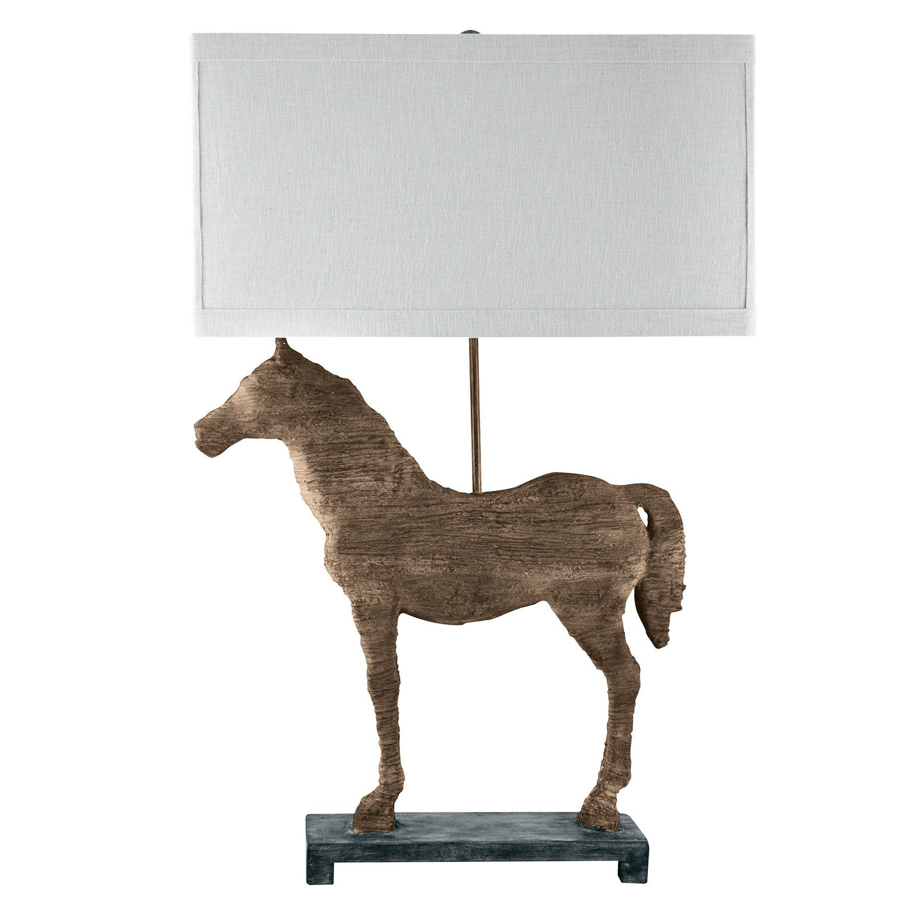 "Carved Horse 31"" H Table Lamp"