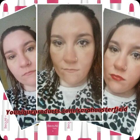 3 morning make up stages #younique #3dlashgirls #lucrativelipgloss #lovemyjob #workingfromhome