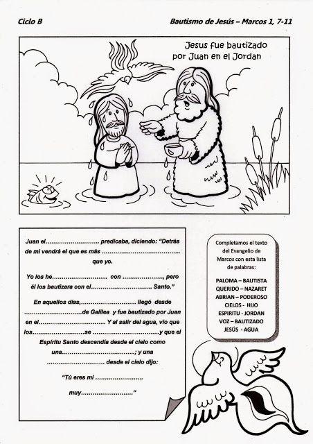 La Catequesis: Recursos Catequesis Bautismo de Jesús | Religión ...