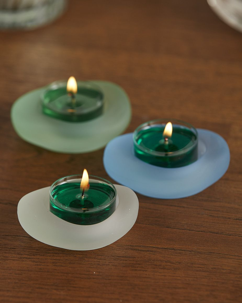8100c4f945 Sea Glass Tealight Holder Trio - Save 25%! | PartyLite | Glass tea ...