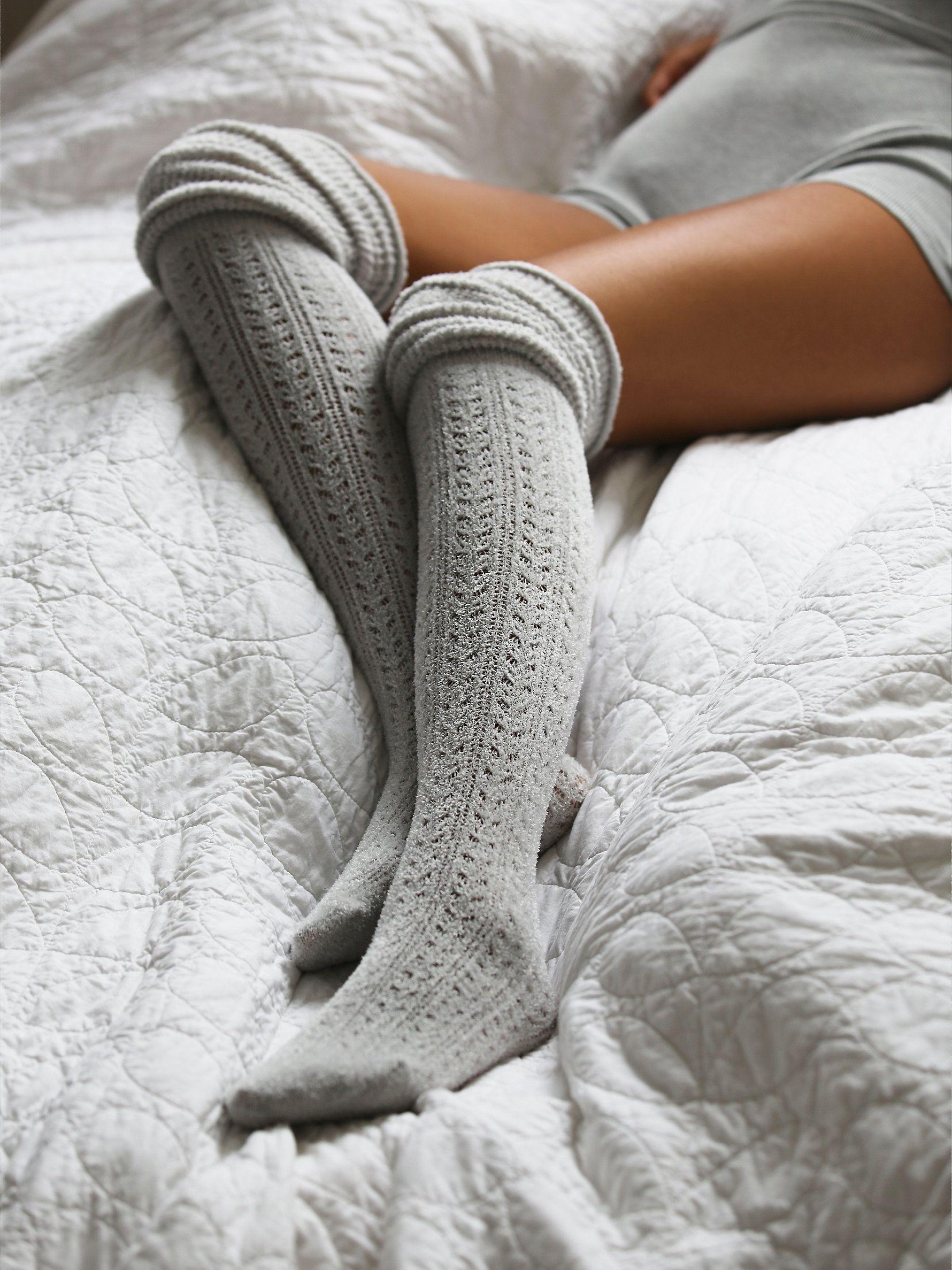 Free People Blanket Pointelle Sock Tall Socks Fashion Style