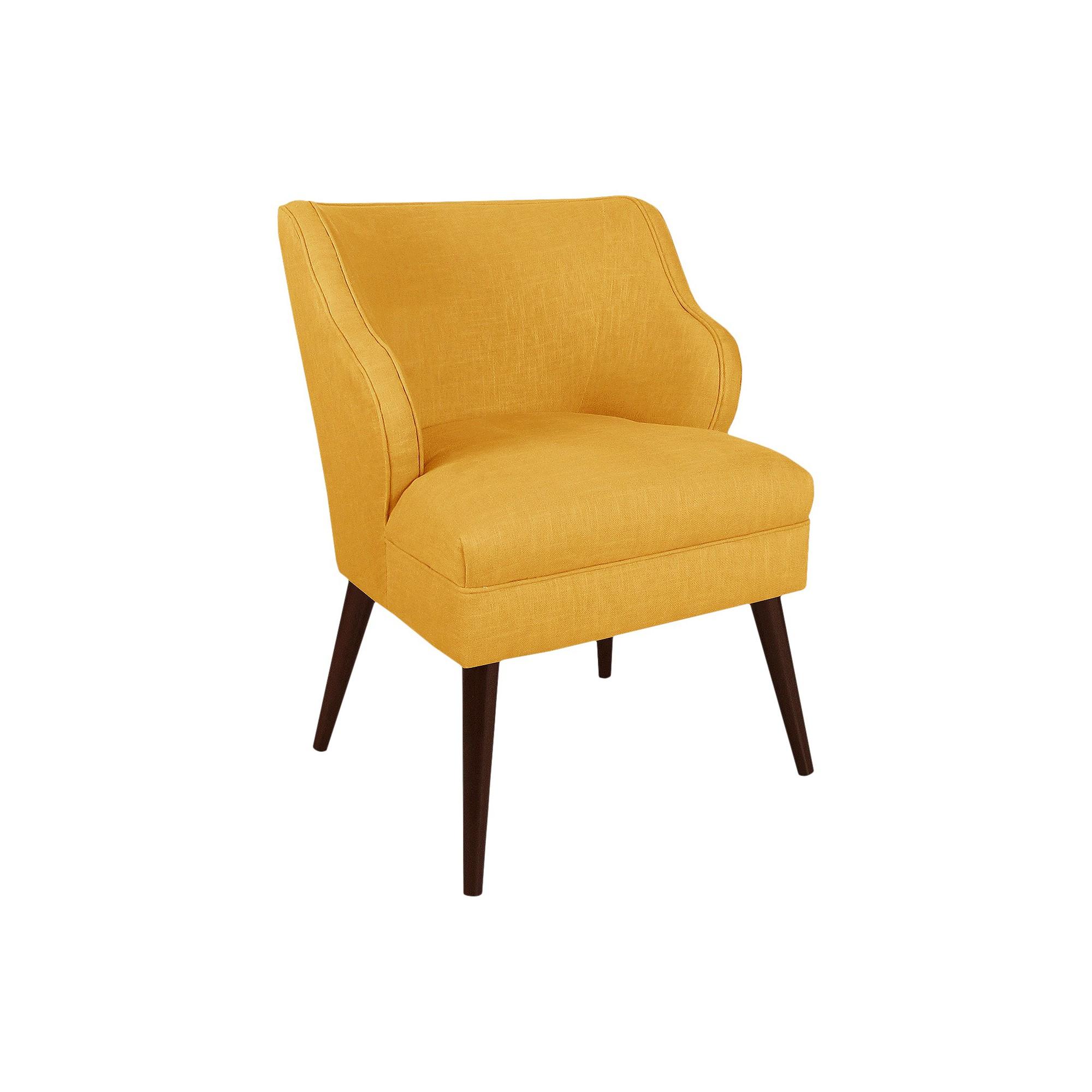 Skyline Custom Upholstered Modern Chair Skyline Furniture Linen
