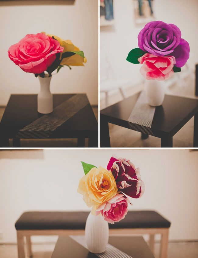 Handmade Paper Flower Wedding: Nata + Jess | Paper flower ...