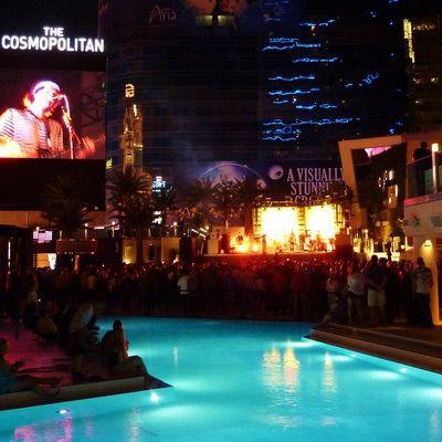 The Blvd. Pool at Cosmopolitan has Monday night movies!